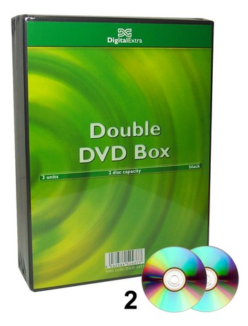 CUSTODIA DVD NERA 2 CD/DVD 3pz
