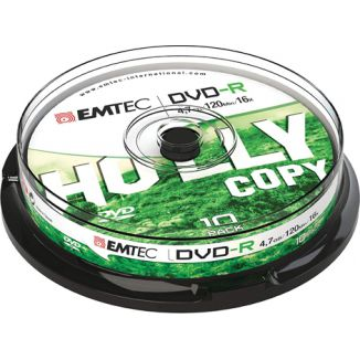 DVD-R 4,7GB 25PZ EMTEC IN CAMPANA