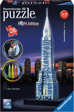 GIOCHI PUZZLE 3D RAVENSBURGER NIGHT EDITION CHRYSLER