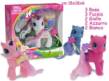 GIOCHI MINI PONY CON ACCESSORI 1pz
