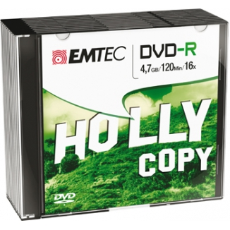 DVD-R 4,7GB EMTEC 10PZ SLIM C/CUSTODIA